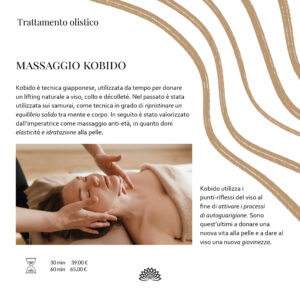 Trattamento Olistico Massaggio Kobido