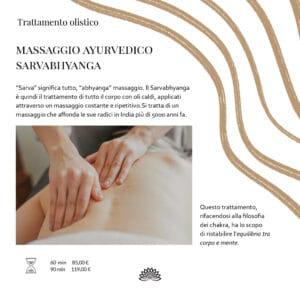 Trattamento Olistico Massaggio Ayurvedico Sarvabhyanga