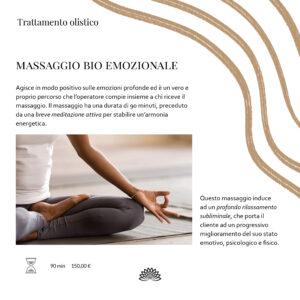 Trattamento Olistico Massaggio Bio Emozionale