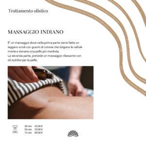 Trattamento Olistico  Massaggio Indiano